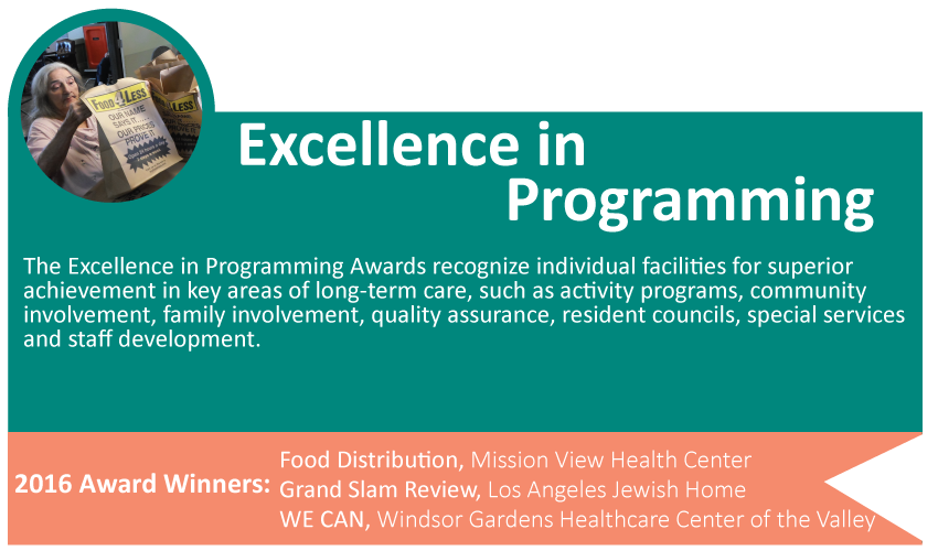 Excellence in Programming Award