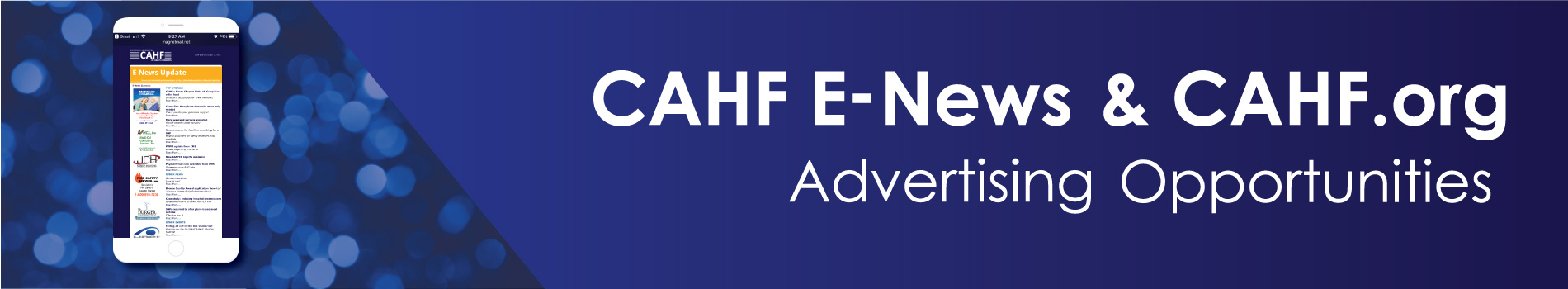 imgCAHF E-News & CAHF.org Advertising Opportunities