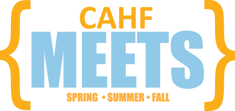 CAHF Meets logo in blue and orange